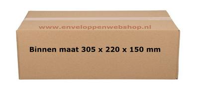 Amerikaanse vouwdoos 305x220x150 mm bruin