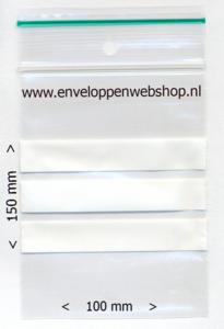 gripzakjes 10 x 15 cm met beschrijfbaar vlak