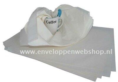 Zijdevloei inpak papier - tissue papier - 400 x 600 mm