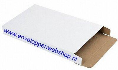 brievenbusdoosje wit golfkarton A6 met zijsluiting