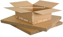 Vierkante kartonnen doos 31 x 31 x 10 cm