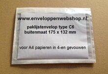 Paklijstenvelop voor A6 papieren