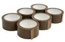 6 rollen verpakkingstape bruin