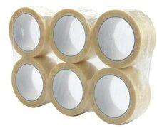 6 rollen doorzichtig verpakkingstape